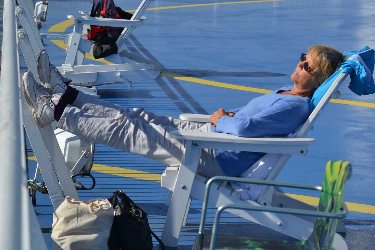Entspannung auf dem Sonnendeck