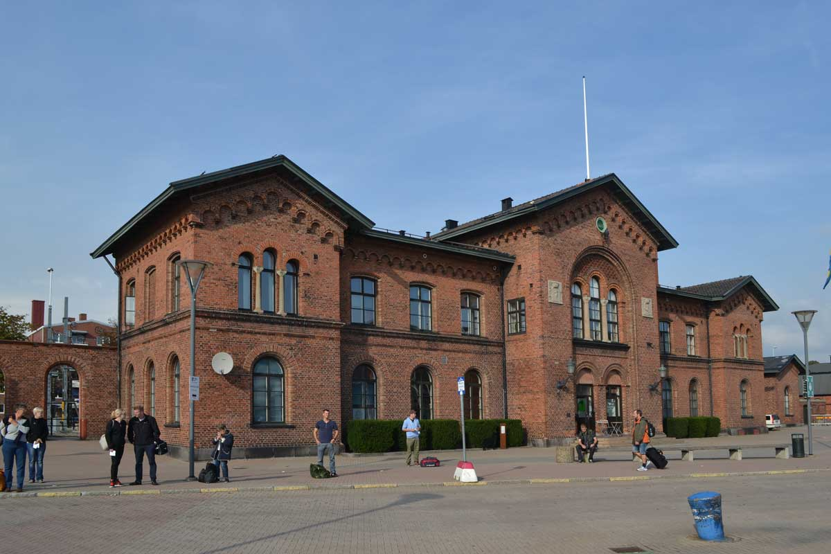 Der Ystad Bahnhof, der in den Wallanderfilmen als Polizeirevier herhalten musste