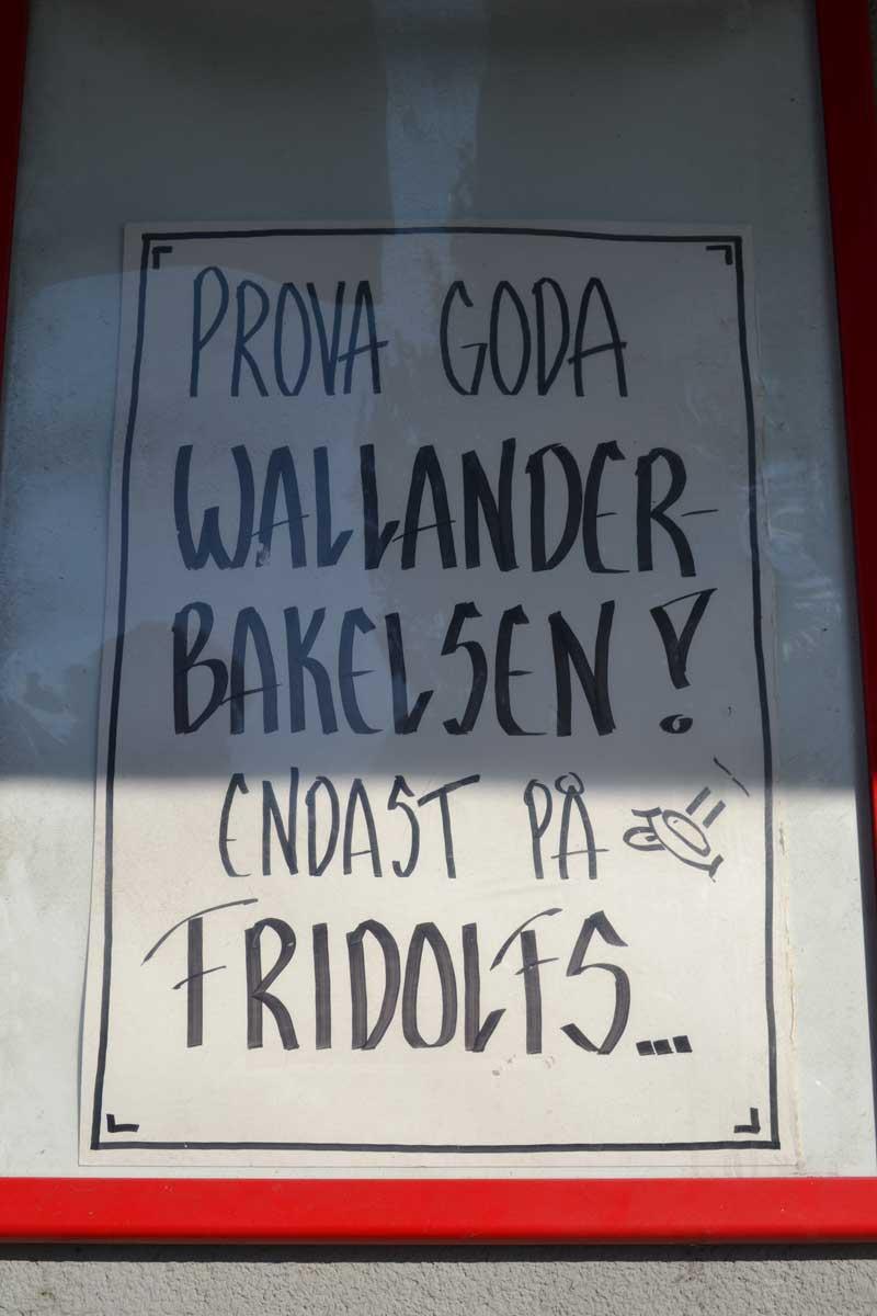 Probieren Sie gutes Wallander-Gebäck - Nur bei Fridolfs