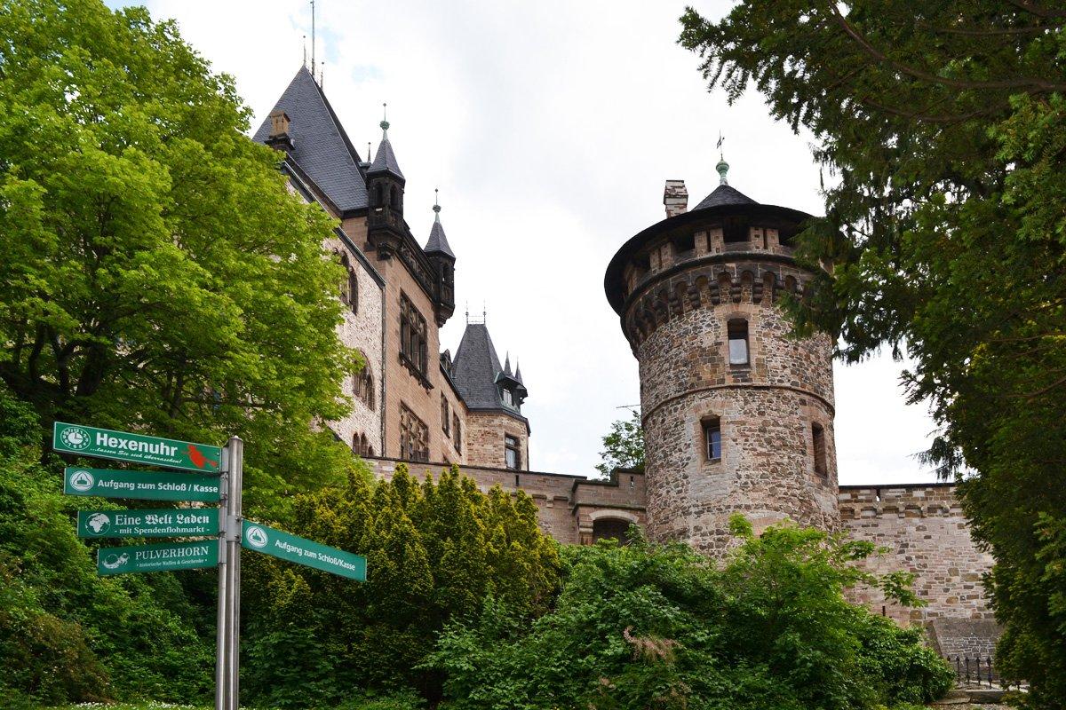 Aufgang zum Schloss