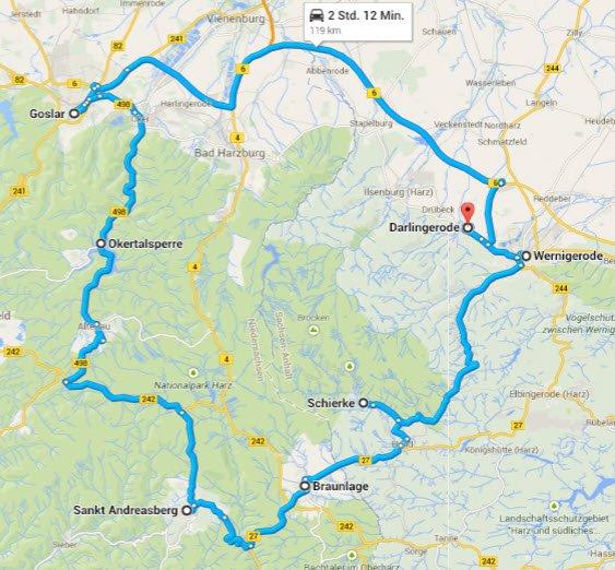 Darlingerode - Goslar Braunlage - Darlingerode