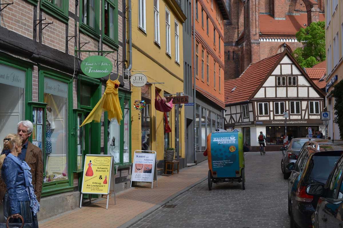Malerische Altstadt in Schwerin