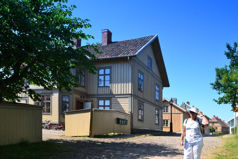 Holzhaus Architektur in Hjo