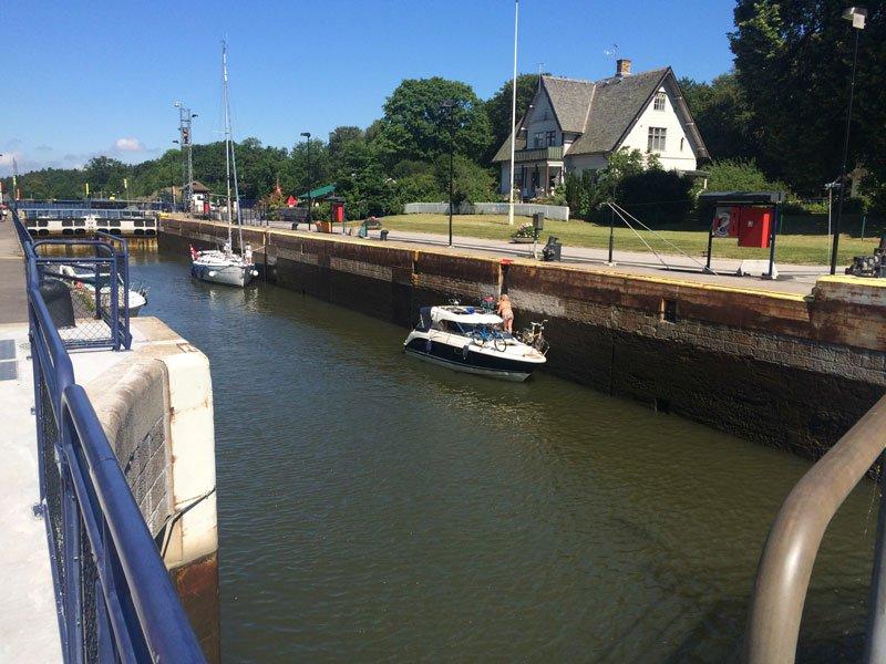 Die Schleuse in Vänersborg