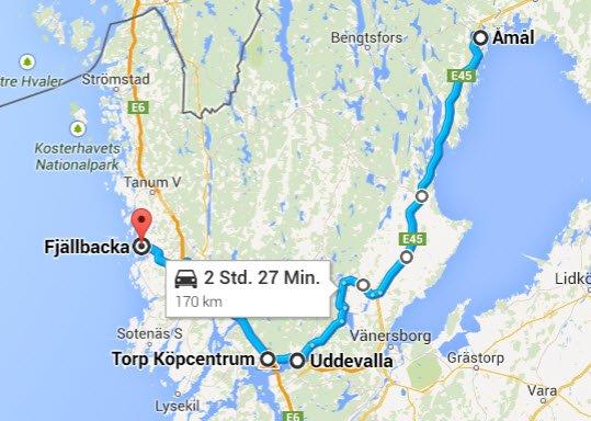 Åmål - Uddevalla - Fjällbacka