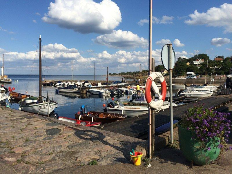 Der kleine Hafen in Arild