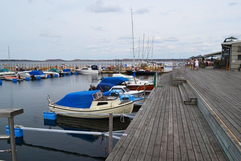 """Teil der sanierten Hafenmeile in """"Norra Hamnen"""", dem Nordhafen"""