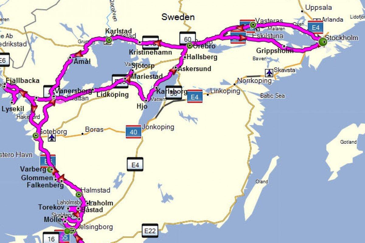 Unsere komplette Reiseroute im Überblick