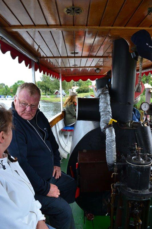 Der Machinist der SS Lagaholm – sieht brummig aus, aber war ganz lustig