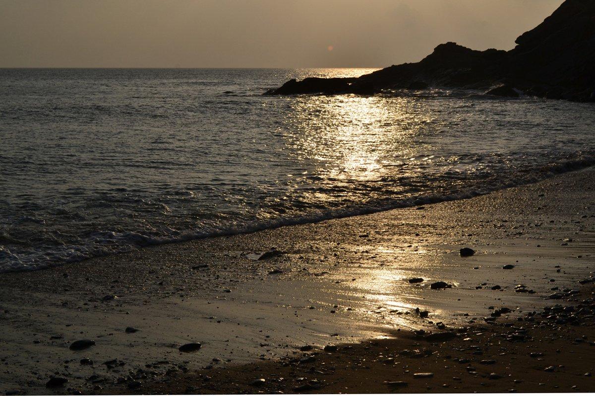 Gunwalloe Strand am Abend
