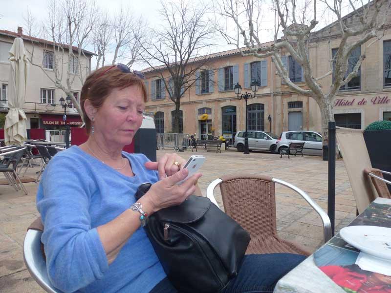 Auf der Plaza in Villeneuve les Avignon