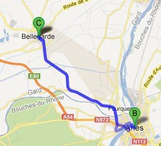 Bellegarde - Arles - Bellegarde