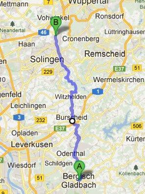 Bergisch-Gladbach - Solingen-Graefrath