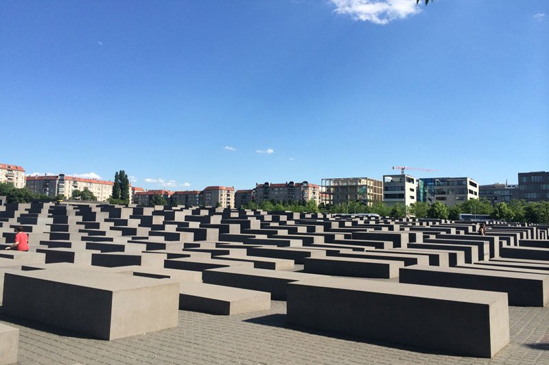 Das Stelenfeld der Holocaust Gedenkstätte