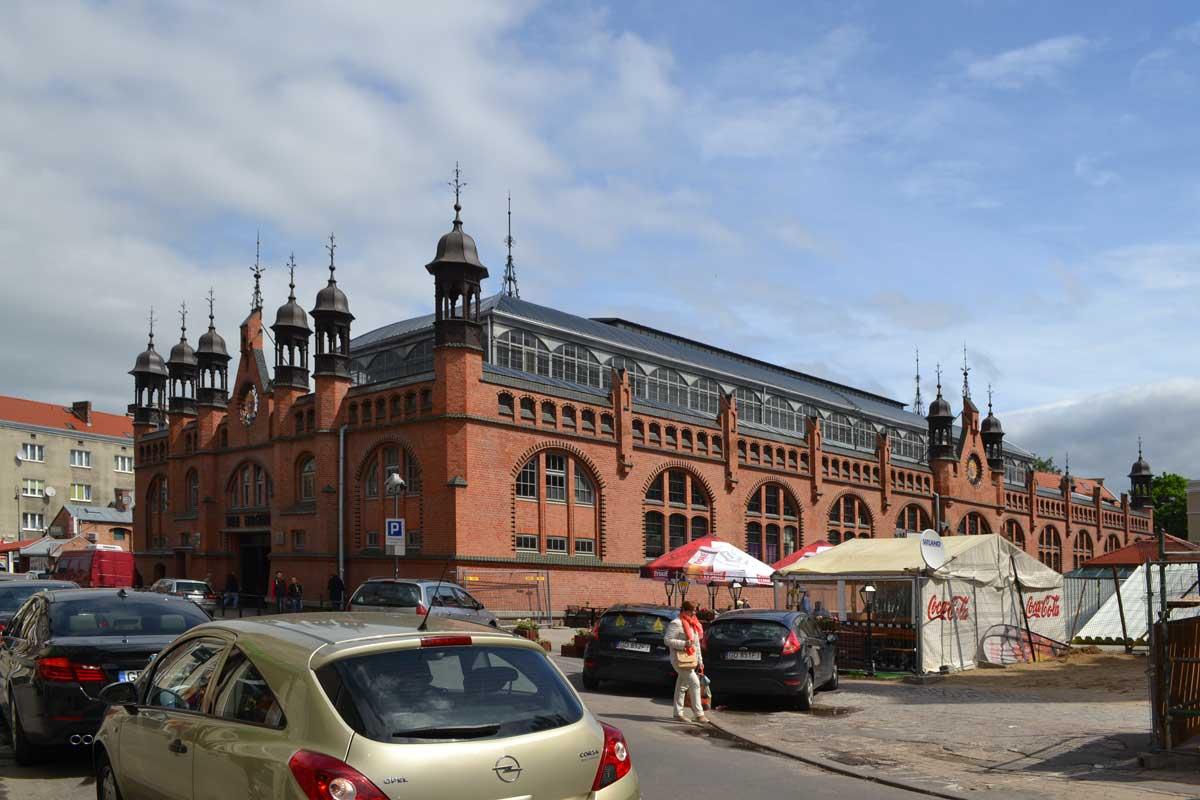 Die wunderschön restaurierte Markthalle