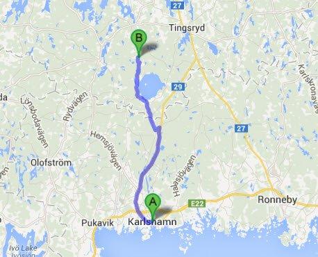 Karlshamn - Hätteboda
