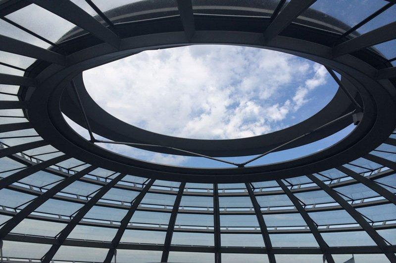 Öffnung in der Reichstagskuppel