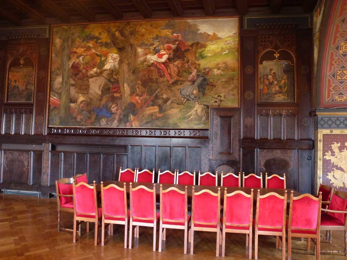 Der Speisesaal in Schloss Burg