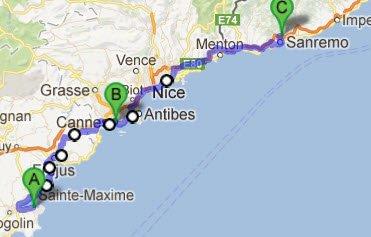 St. Tropez - Cannes - Sanremo