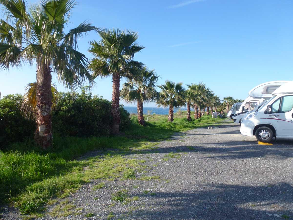 Unser Stellplatz in San Remo