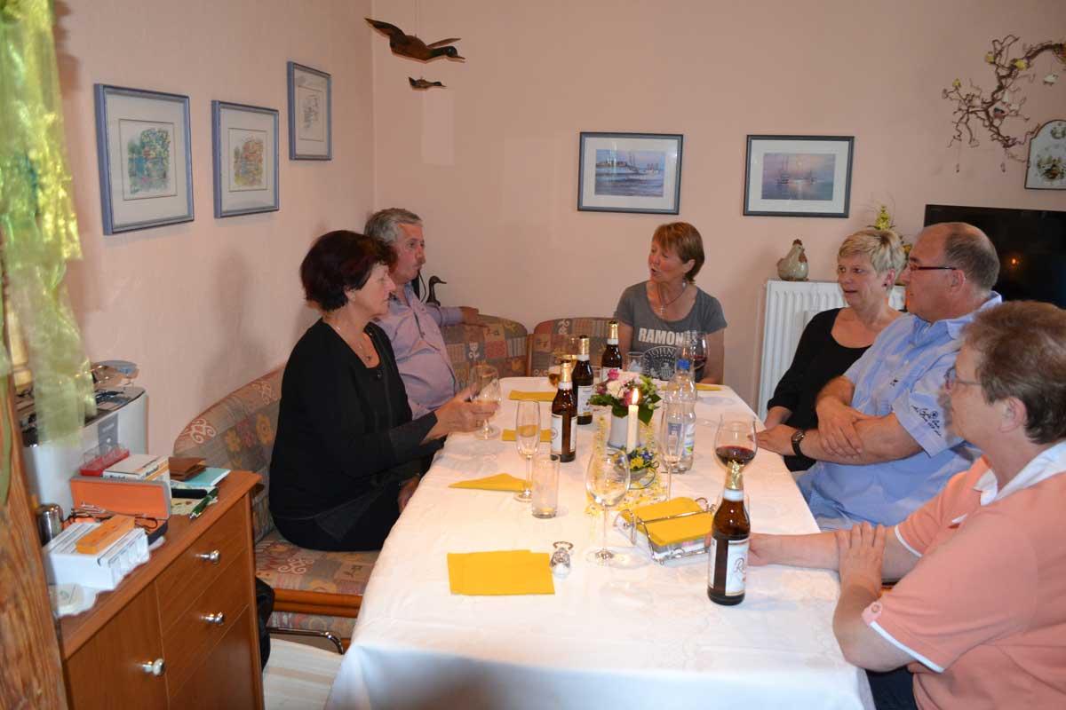 von links: Ruth, Detlev, Anne, Sabine, Frank und Inge