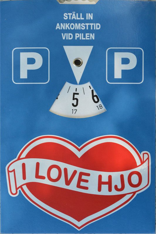 """""""I love Hjo"""" Parkscheibe"""