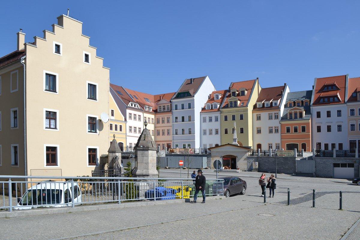 Das polnische Görlitz am östlichen Ufer der Neisse