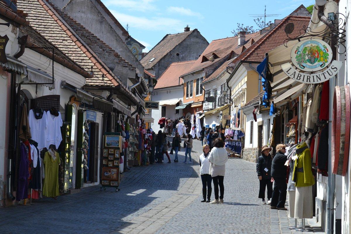 Fußgängerzone in Szentendre