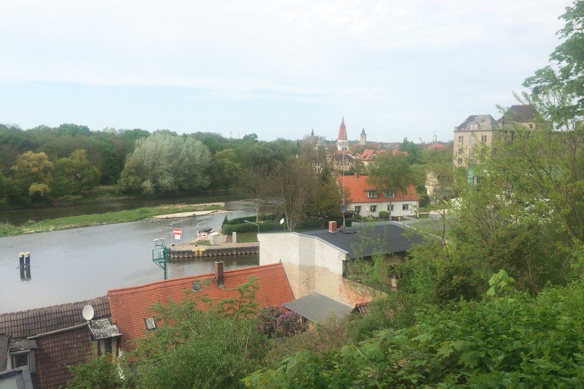 Blick über die Saale zurTalstadt