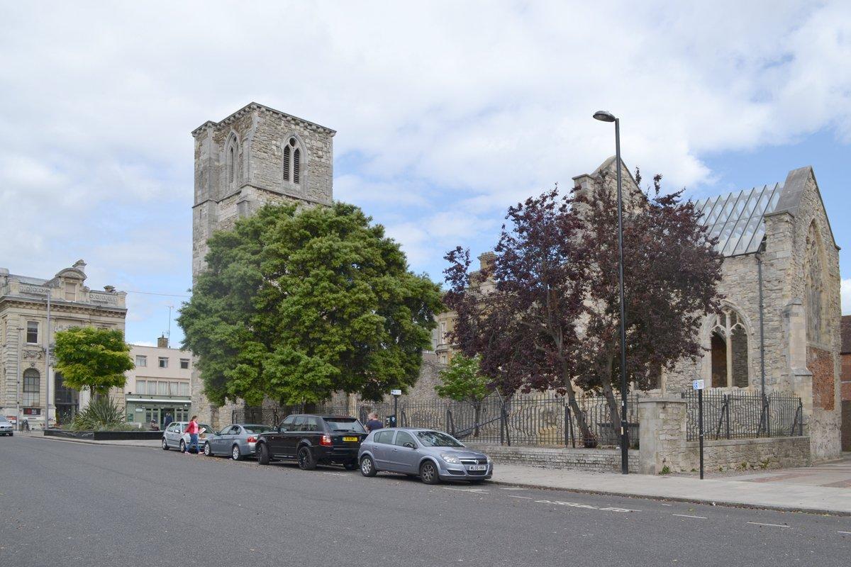 Kirchenruine St Mary Southampton - im Krieg zerstört