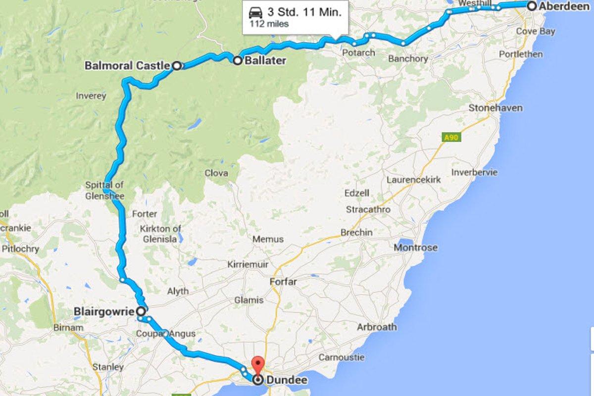Aberdeen - Ballater - Balmoral - Dundee