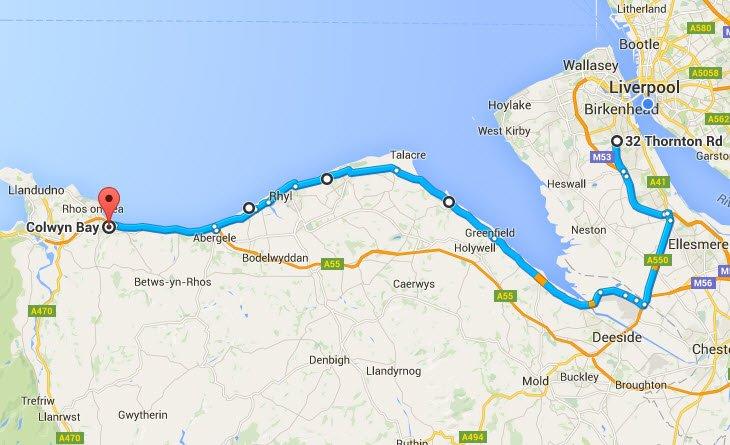 Colwyn Bay - Birkenhead