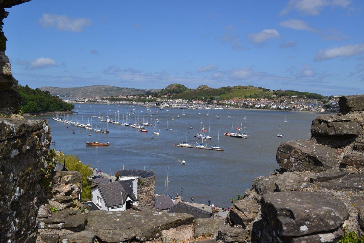 Conwy Castle und Hafen
