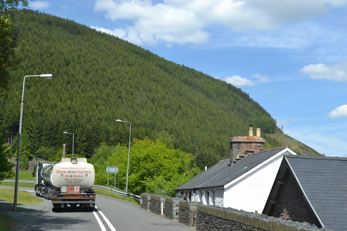 Fahrt durch Snowdonia
