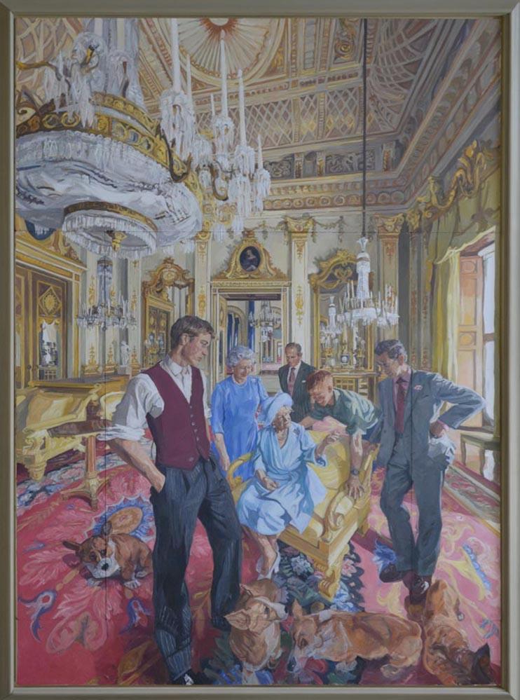 Gemälde der königlichen Familie