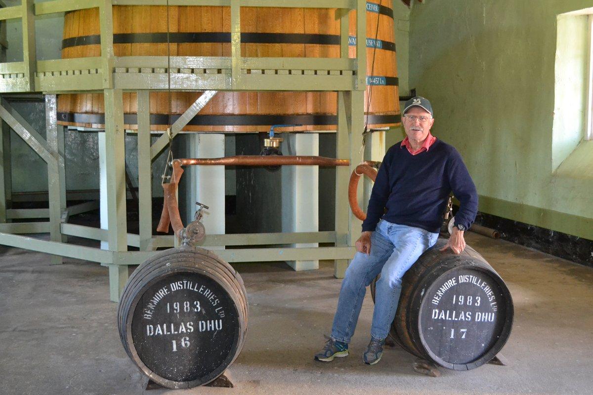 Im Abfüllraum der Destillerie