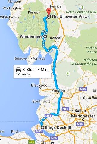 Liverpool -Windermere - Ullswater