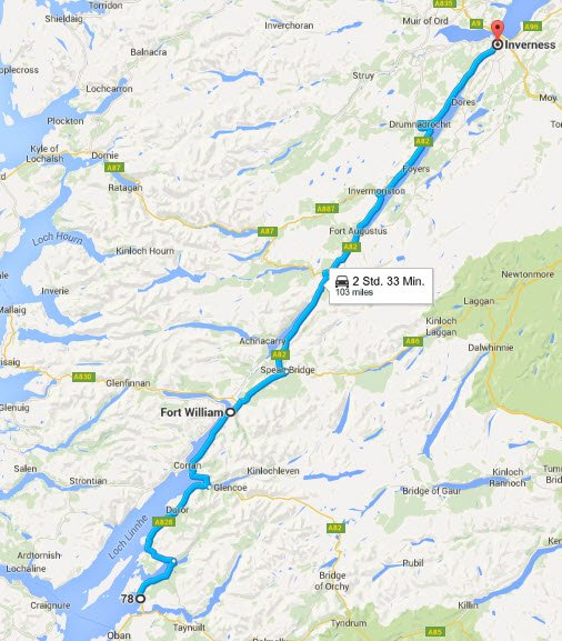 Oban - Fort Williams - Inverness
