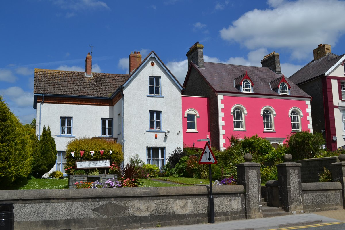 Schmucke Häuser in Cardigan