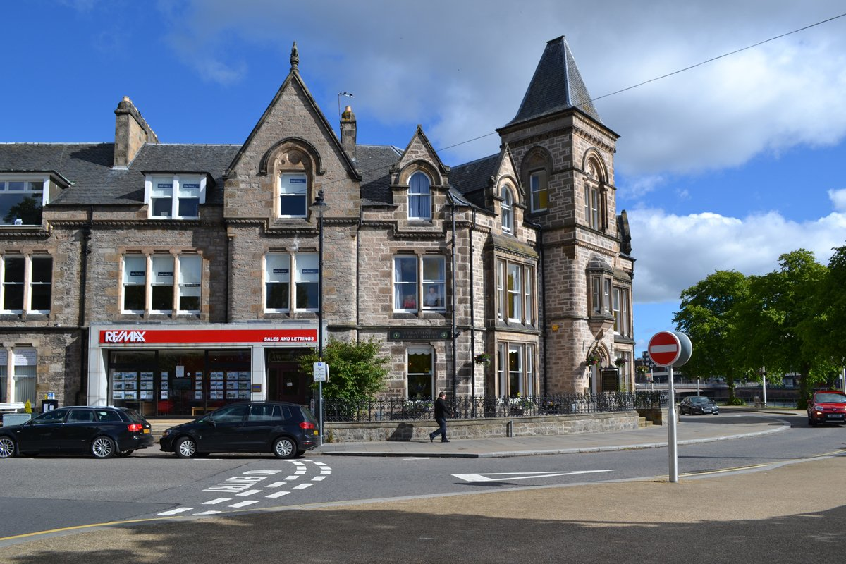 Schottische Architektur in Inverness