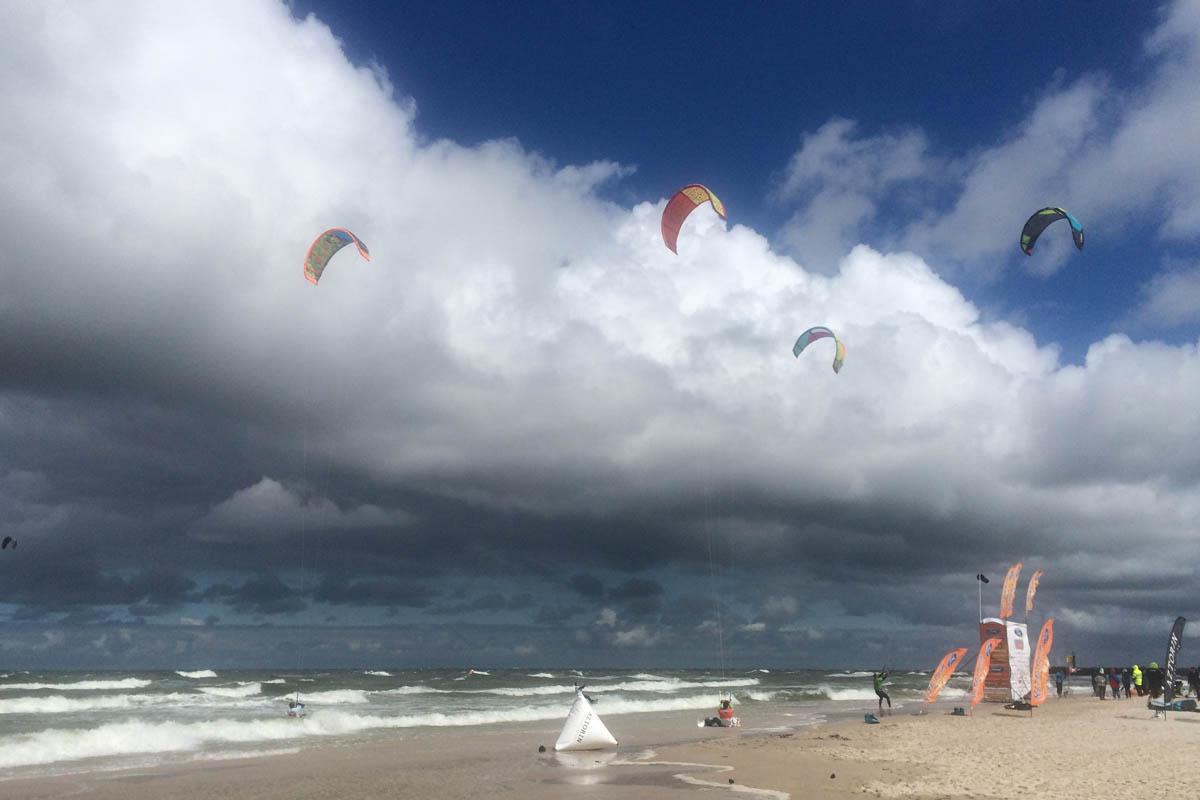 Kitesurfing bei Windstärke 8