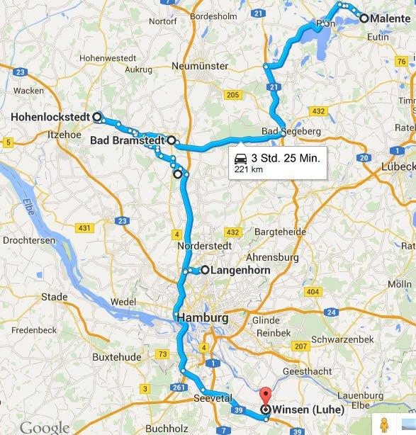Malente - Bad Bramstedt - Hohenlockstedt - Winsen