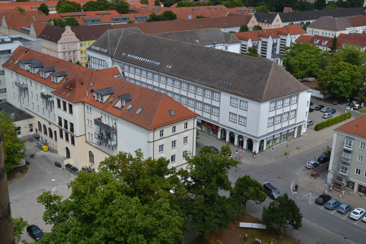 Stadtzentrum vom Kirchturm aus gesehen