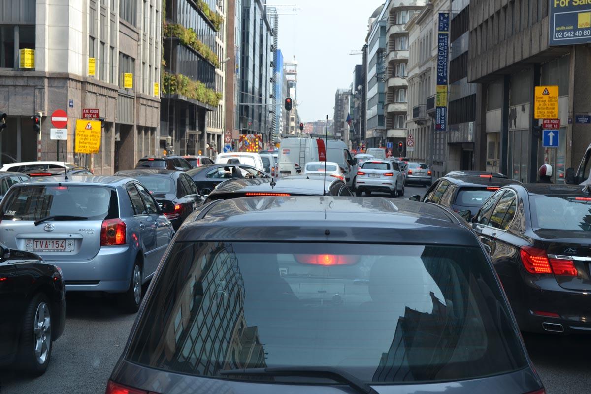 Verkehrsstau in Brüssel