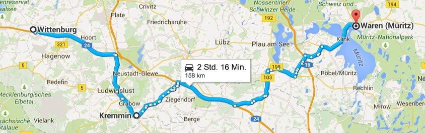 Wittenburg - Kremmin - Waren