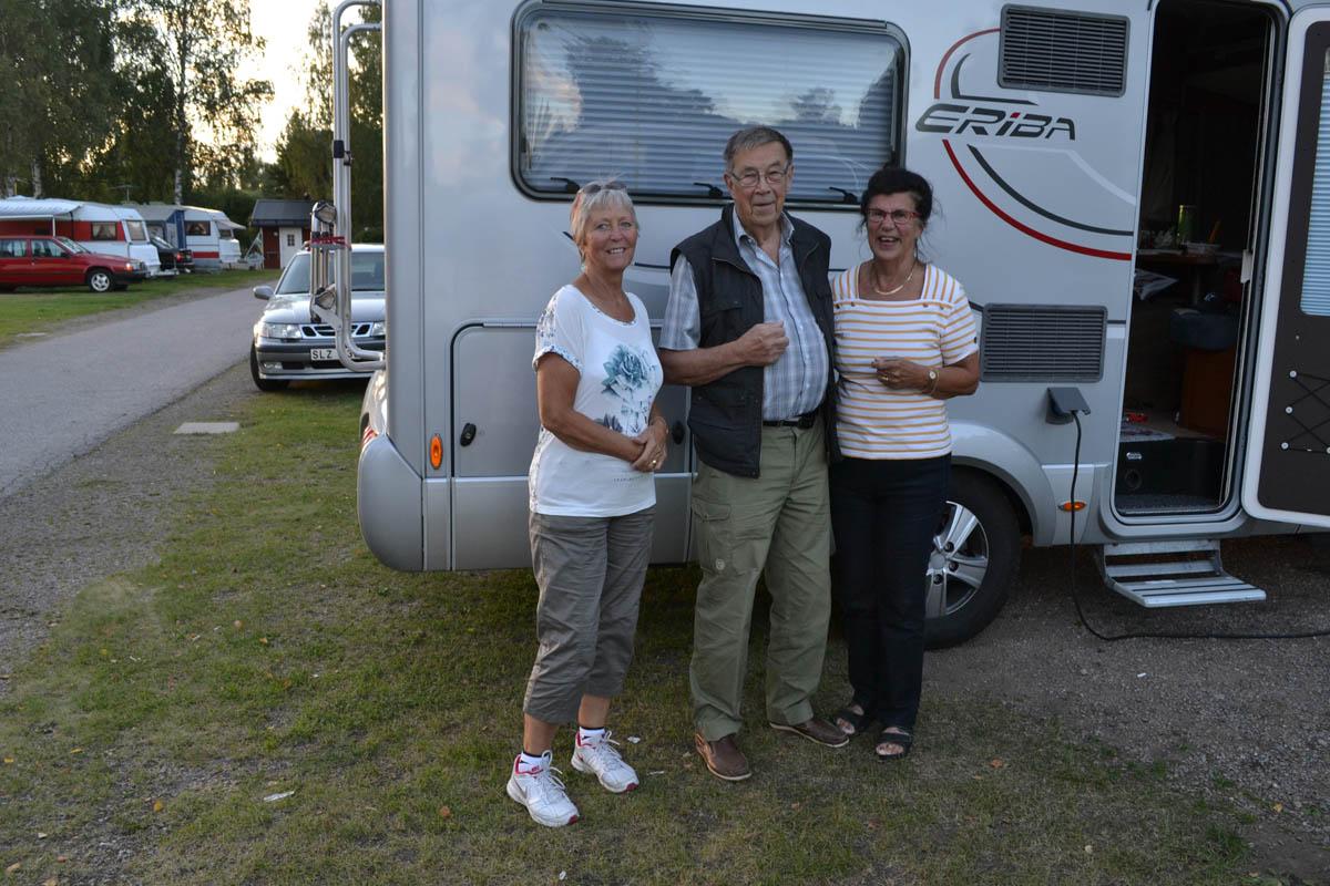 Anne mit Margareta und Rune Karlsson in Falun