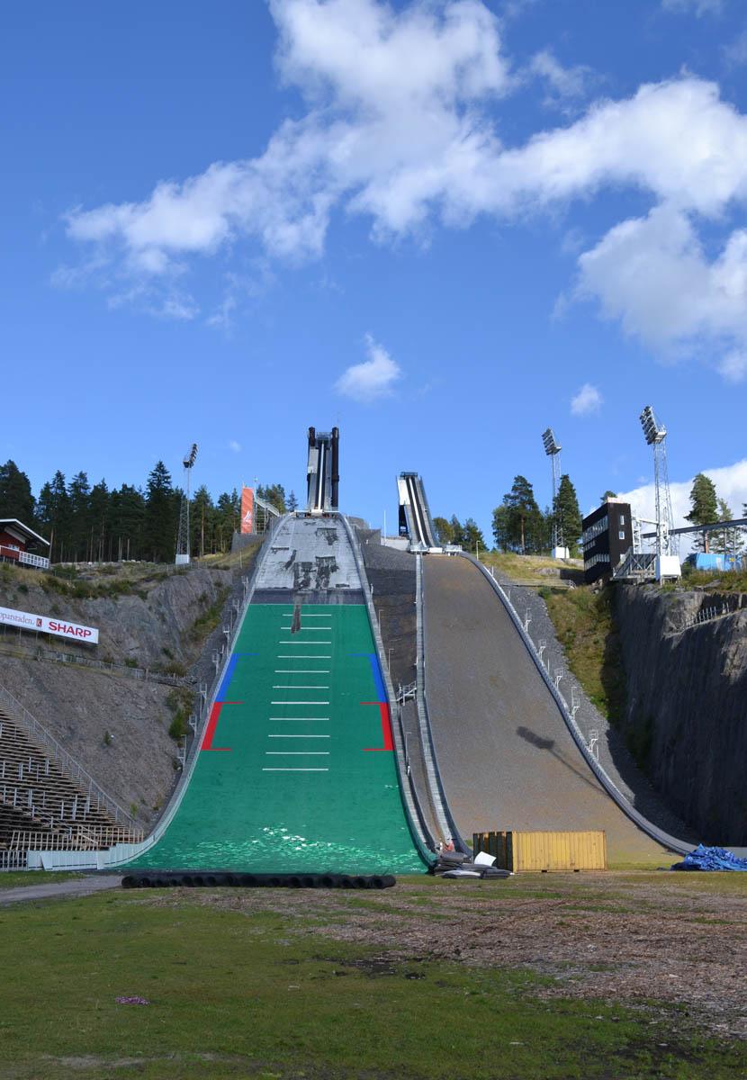 Die Skisprung-Anlage Lugnet in Falun