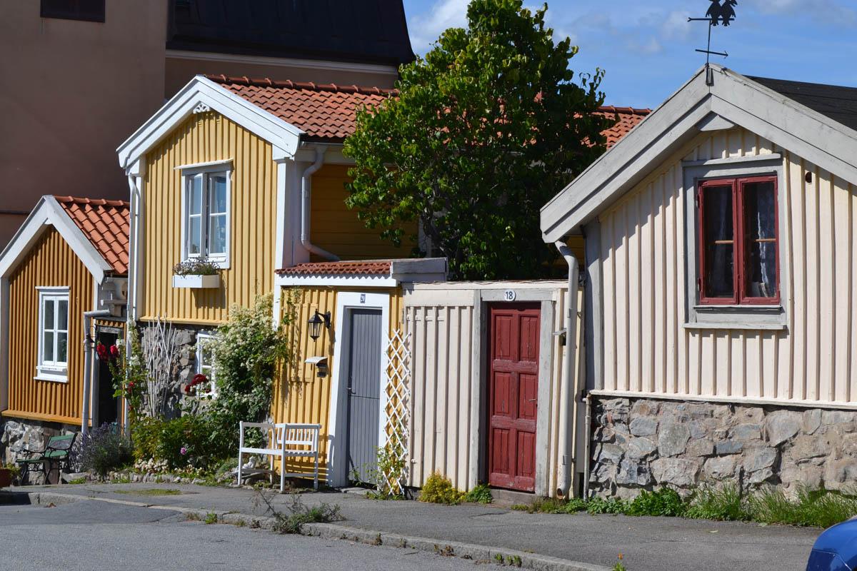 Holzhausarchitektur in Björkholmen