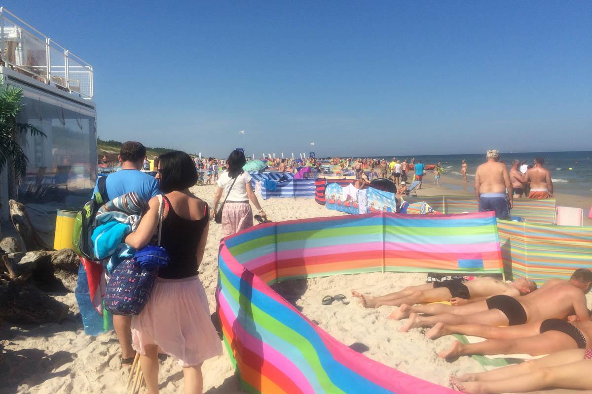 Überfüllter Leba Strand