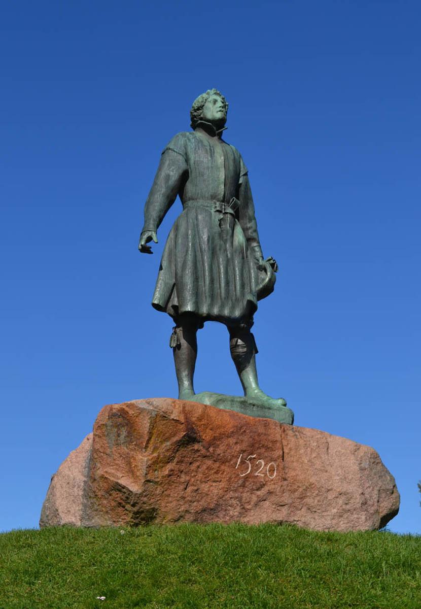 Statue Gustaf I Wasa von Zorn